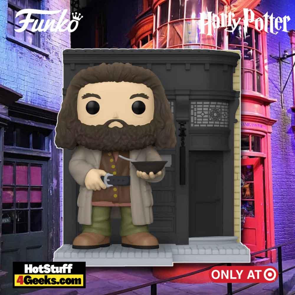 Funko POP! Deluxe: Harry Potter Diagon Alley - The Leaky Cauldron with Hagrid Funko Pop! Vinyl Figure