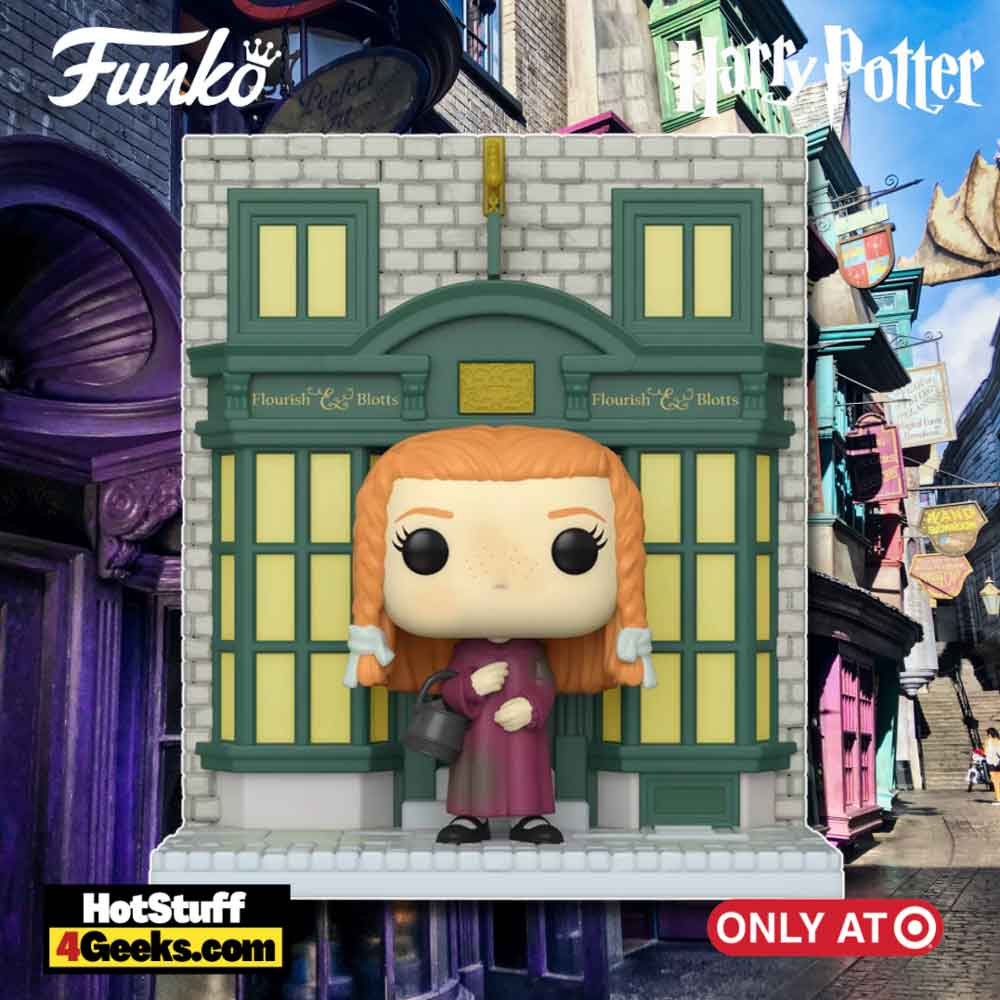 Funko POP! Deluxe: Harry Potter Diagon Alley - Ginny with Flourish & Blotts Storefront Funko Pop! Vinyl Figure