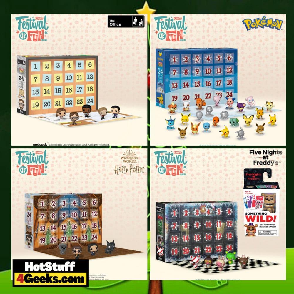 Funko Pocket Pop! Advent Calendars For 2021: Pokemon, Five Night's at Freddy's Blacklight, The Office, and Harry Potter 2021 Funko Pocket Pop! Holiday Countdown Calendars - Funko Festival of Fun 2021