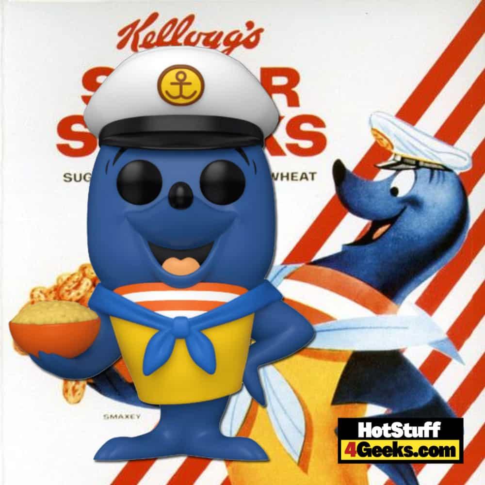 Funko Pop! Ad Icons: Kelloggs - Smaxey The Seal (Sugar Smack's Seal) Funko Pop! Vinyl Figure Virtual FunKon 2021 - Funko Shop Shared Exclusive