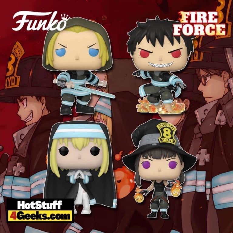 Funko Pop! Animation: Fire Force: Maki, Iris, Arthur With Sword, and Shinra With Fire Funko Pop! Vinyl Figure