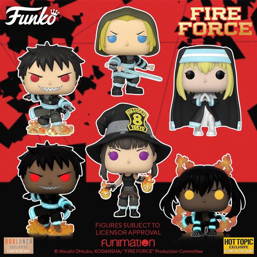 Funko Pop! Animation: Fire Force: Maki, Iris, Arthur With Sword, and Shinra With Fire Funko Pop! Vinyl Figures