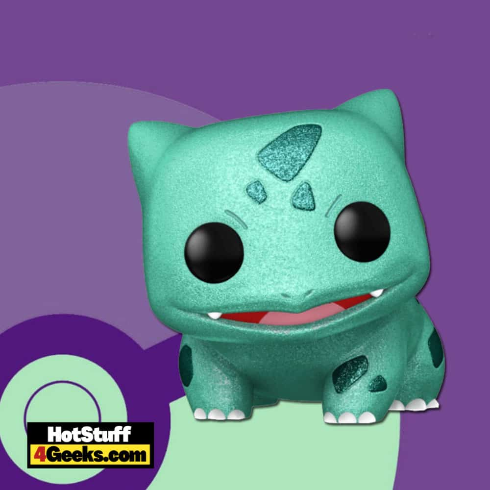 Funko Pop! Animation: Pokémon - Bulbasaur Diamond Glitter Funko Pop! Vinyl Figure Virtual FunKon 2021 - Target Shared Exclusive