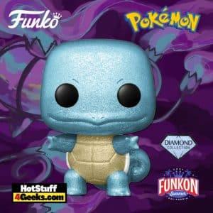 Funko Pop! Animation: Pokémon - Squirtle Diamond Glitter Funko Pop! Vinyl Figure Virtual FunKon 2021 - GameStop Shared Exclusive