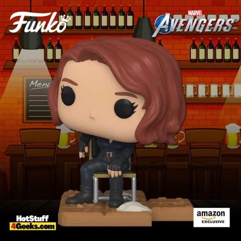 Funko Pop! Deluxe: Marvel Avengers – Victory Shawarma Series – Black Widow Funko Pop! Vinyl Figure – Amazon Exclusive