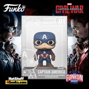 Funko Pop! Diecast: Marvel Studios' Captain America: Civil War - Captain America Funko Pop! Vinyl Figure Virtual FunKon 2021 - Funko Shop Shared Exclusive