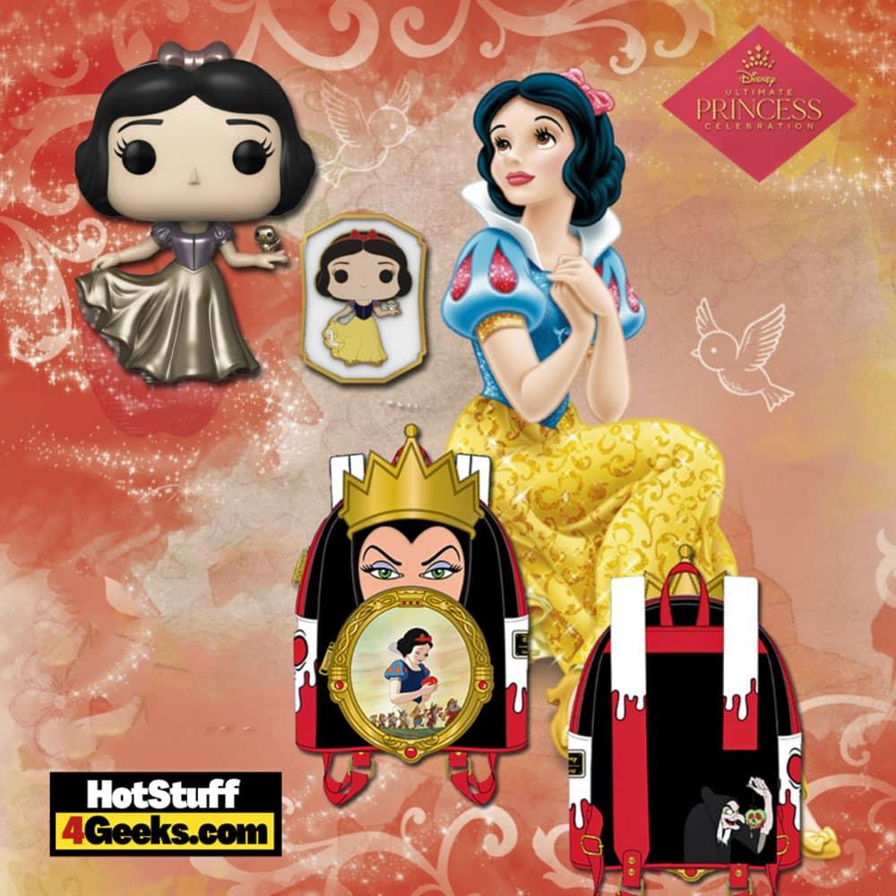 Funko Pop! Disney's Ultimate Princess Celebration – Snow White Funko Pop! & Pin Vinyl Figure and Loungefly Mini Backpack Bundle Virtual FunKon 2021 - Funko Shop Shared Exclusive