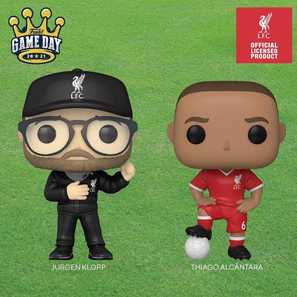 Funko Pop! Football - Jurgen Klopp (Liverpool), Thiago Alcantara (Liverpool) Funko Pop! Vinyl Figures
