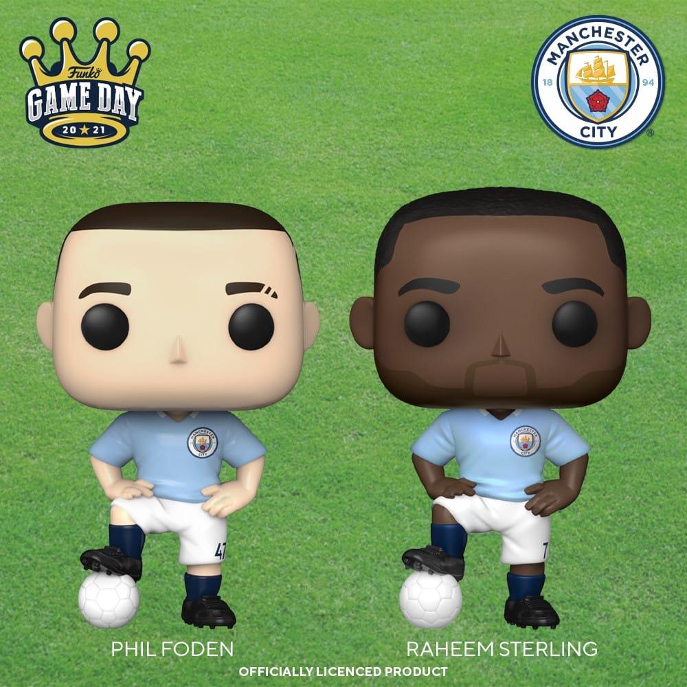 Funko Pop! Football - Raheem Sterling (Manchester City), Phil Foden (Manchester City) Funko Pop! Vinyl Figures