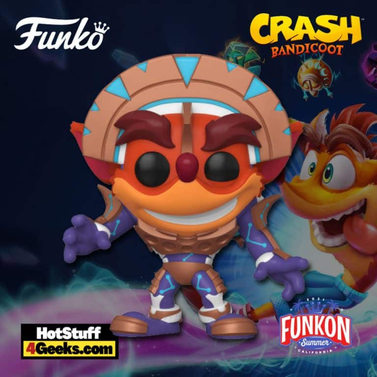 Funko Pop! Games: Crash Bandicoot - Crash in Mask Armor (Metallic) Funko Pop! Vinyl Figure Virtual FunKon 2021 - Walmart Shared Exclusive