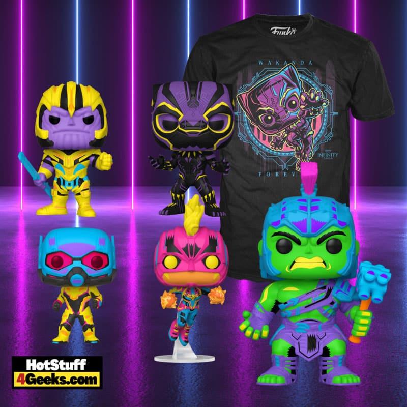 Funko Pop! Marvel Infinity Saga Black Light Collection