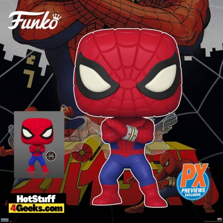 Funko Pop! Marvel Spider-Man Japanese TV Series With Glow-In-The-Dark Chase Funko Pop! Vinyl Figure - PX Previews Exclusive