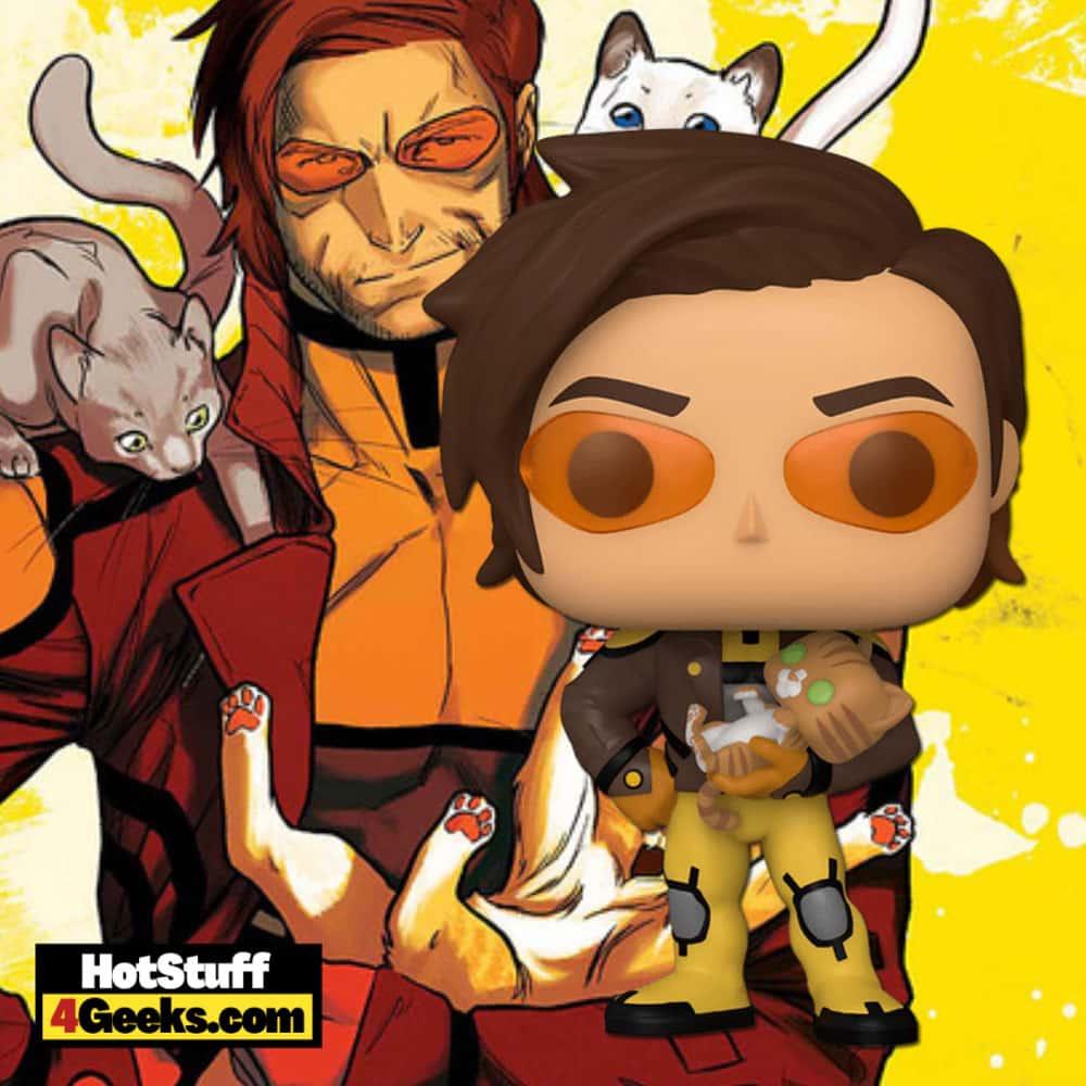 Funko Pop! Marvel: X-Men -Gambit With Cat Funko Pop! Vinyl Figure - Hot Topic Exclusive