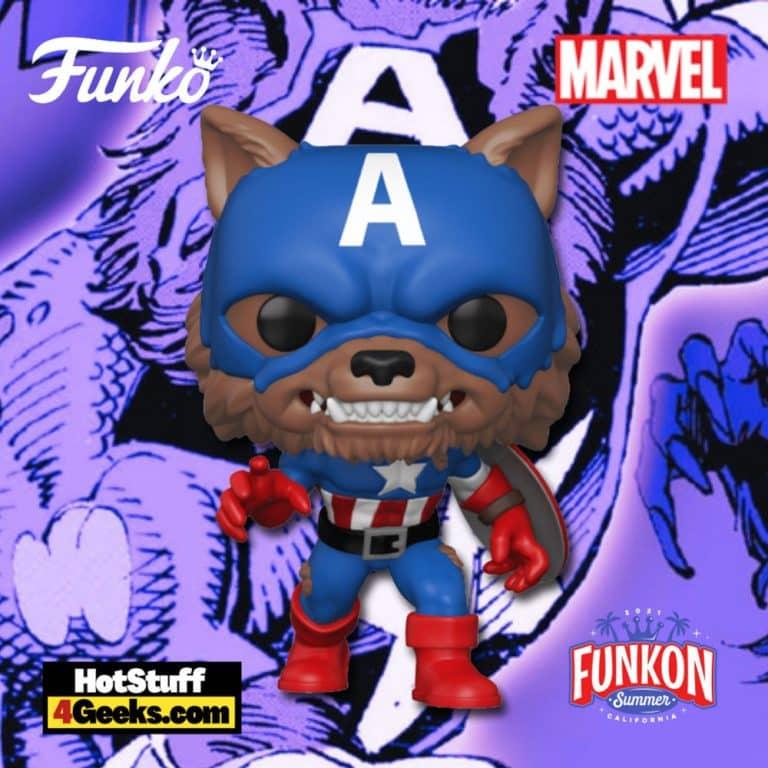 Funko Pop! Marvel - Year of the Shield: Capwolf Funko Pop! Vinyl Figure Virtual FunKon 2021 - Amazon Shared Exclusive