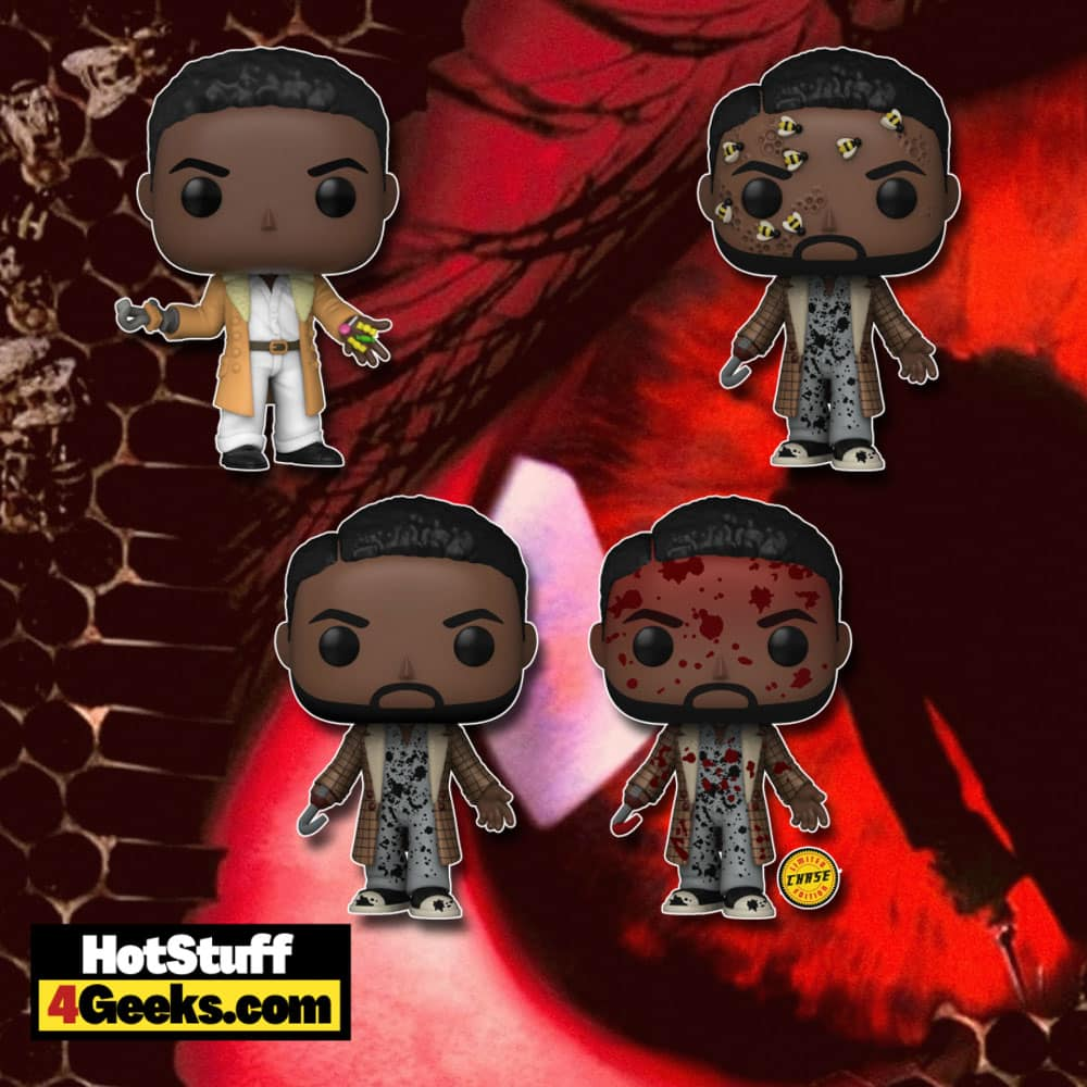 Funko Pop! Movies: Candyman (2021) - Candyman with Bees, Sherman Fields, and Candyman With Bloody Chase Variant Funko Pop! Vinyl Figures