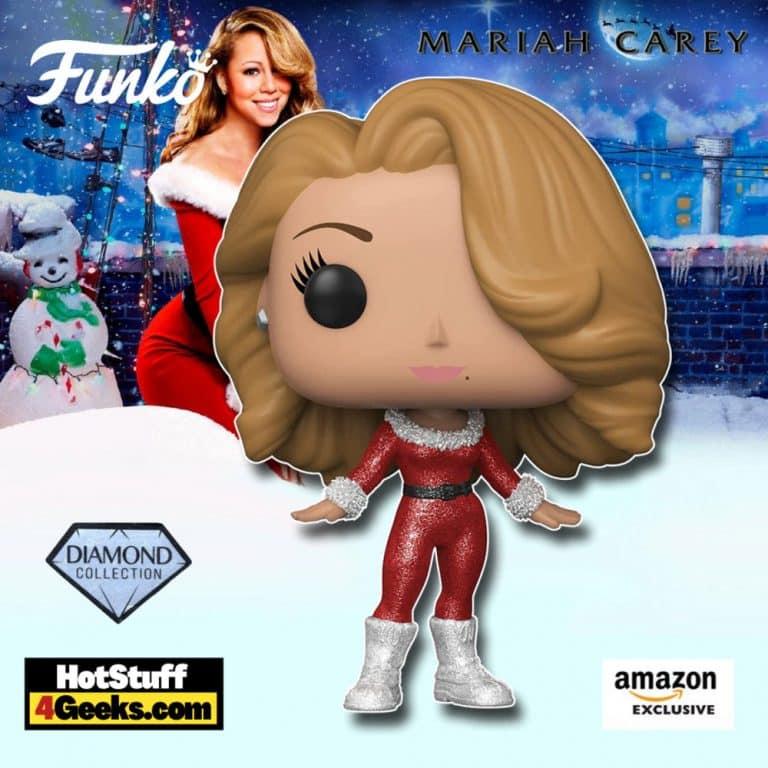 Funko Pop! Rocks: Mariah Carey Merry Christmas - Diamond Glitter Collection Funko Pop! Vinyl Figure - Amazon Exclusive - Funko Festival of Fun 2021