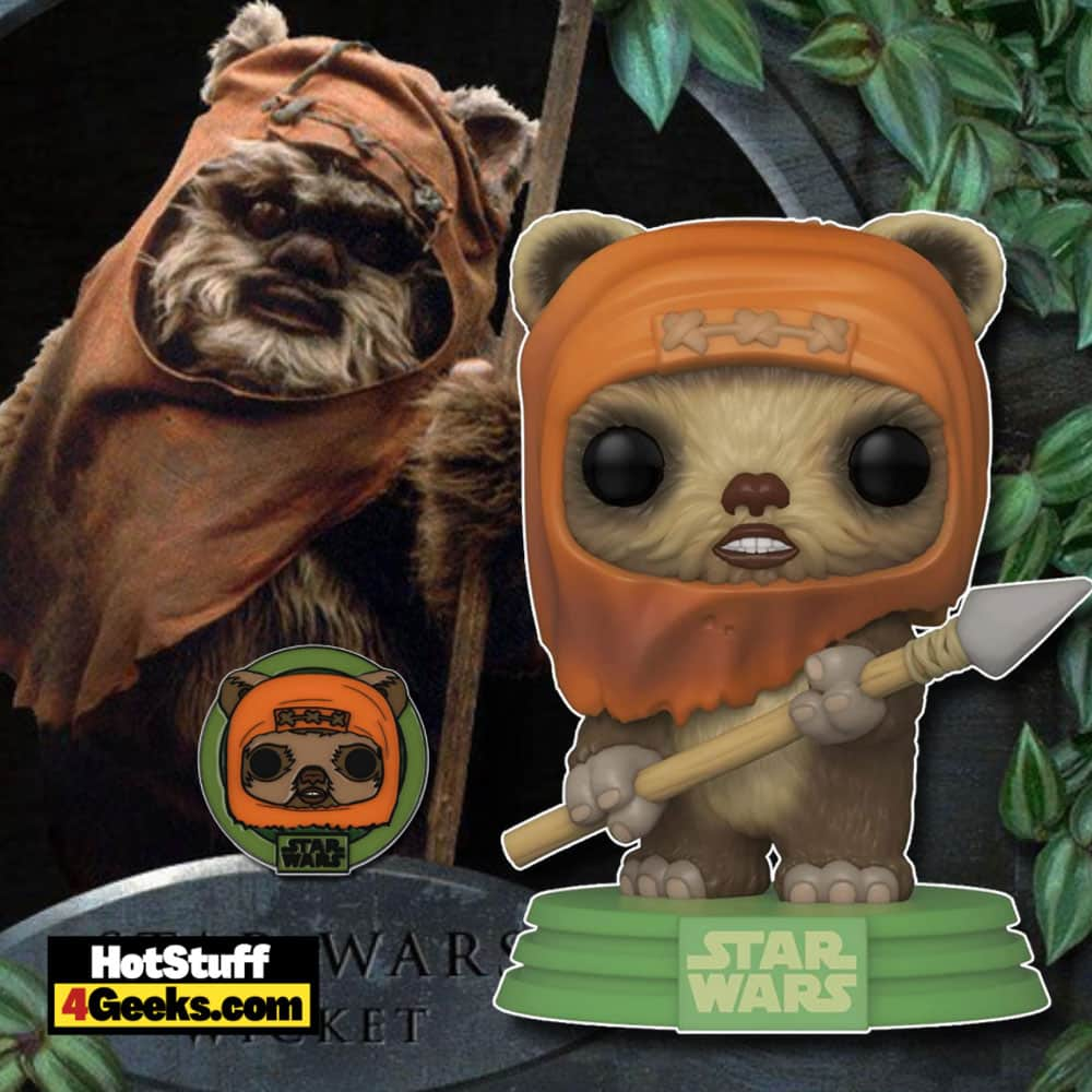 Funko Pop! Star Wars Across The Galaxy: Return of The Jedi - Wicket W. Warrick (Endor) With Pin Funko Pop! Vinyl Figure - Amazon Exclusive