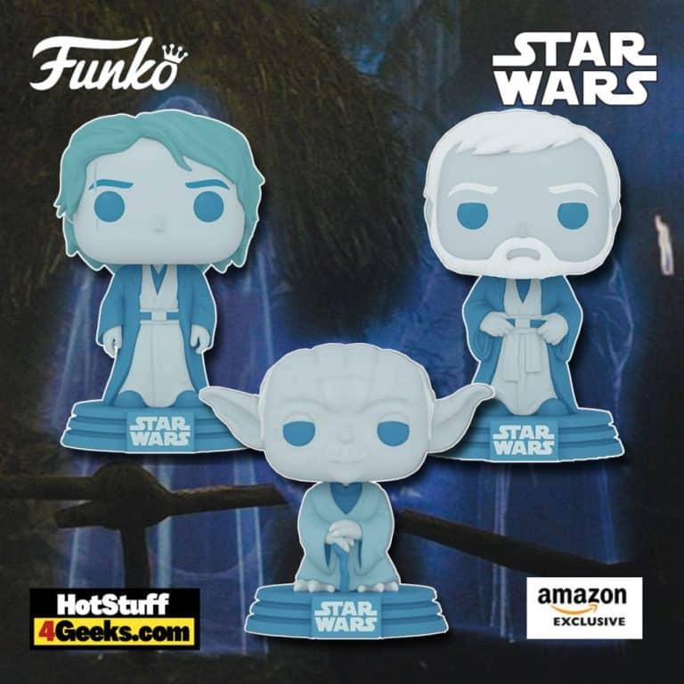 Funko Pop! Star Wars Force Ghost Anakin, Yoda, and Obi-Wan Kenobi Force Ghost 3-Pack