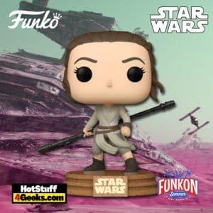 Funko Pop! Star Wars: The Force Awakens - Rey (Jakku) Funko Pop! Vinyl Figure Virtual FunKon 2021 - Amazon Shared Exclusive
