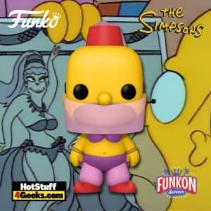 Funko Pop! Television: The Simpsons – Belly Dancer Homer Funko Pop! Vinyl Figure Virtual FunKon 2021 - GameStop Shared Exclusive