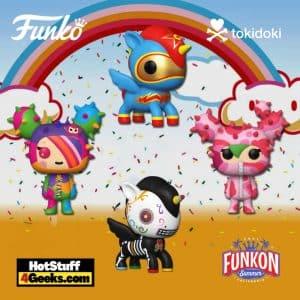 Funko Pop! Tokidoki Sabochan, Caramelo, Scooter and Sandy Funko Pop! Vinyl Figures Virtual FunKon 2021 Exclusives