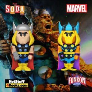 Funko Vinyl Soda: Marvel - Thor Vinyl Soda Figure With Black Light Chase Virtual FunKon 2021 - Funko Shop Shared Exclusive