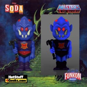 Funko Vinyl Soda: Masters of the Universe: Webstor Vinyl Soda Figure With Glow In The Dark Chase Virtual FunKon 2021 - Toy Tokyo Shared Exclusive