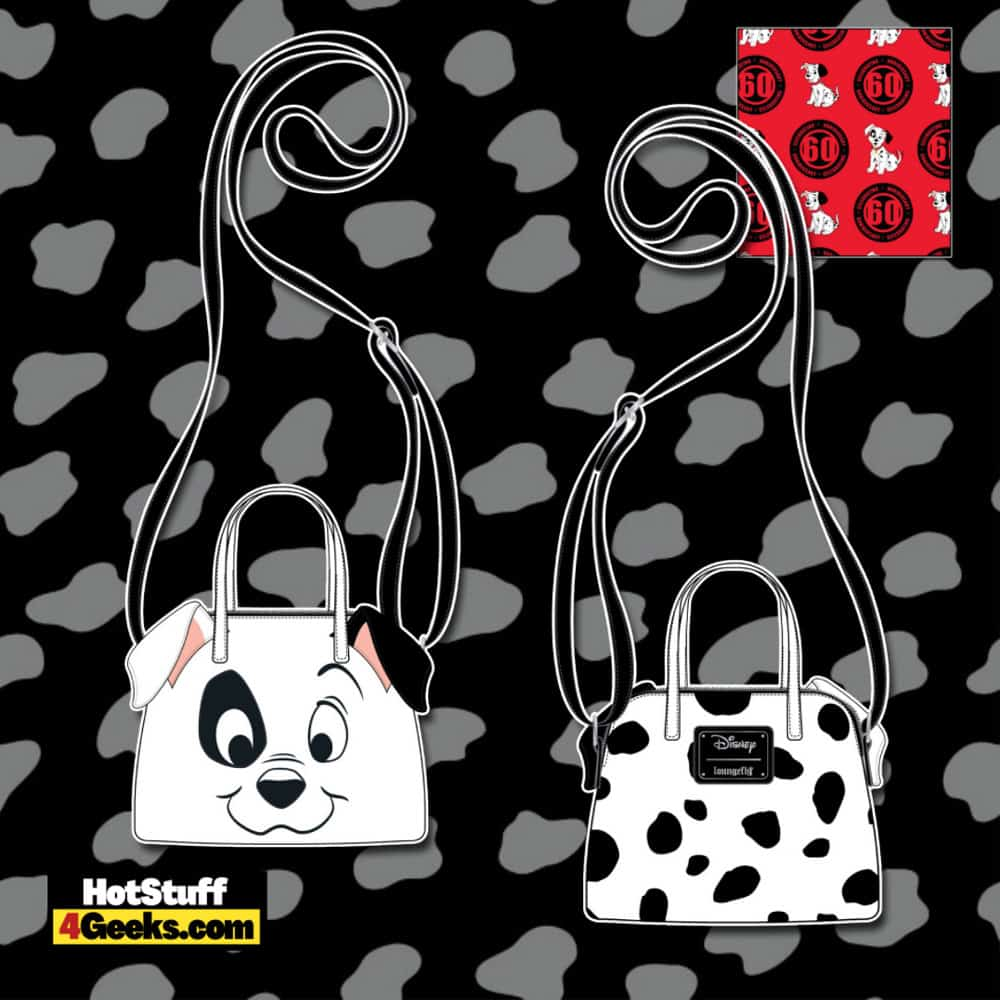Loungefly Disney 101 Dalmatians 60th Anniversary Cosplay Crossbody Bag