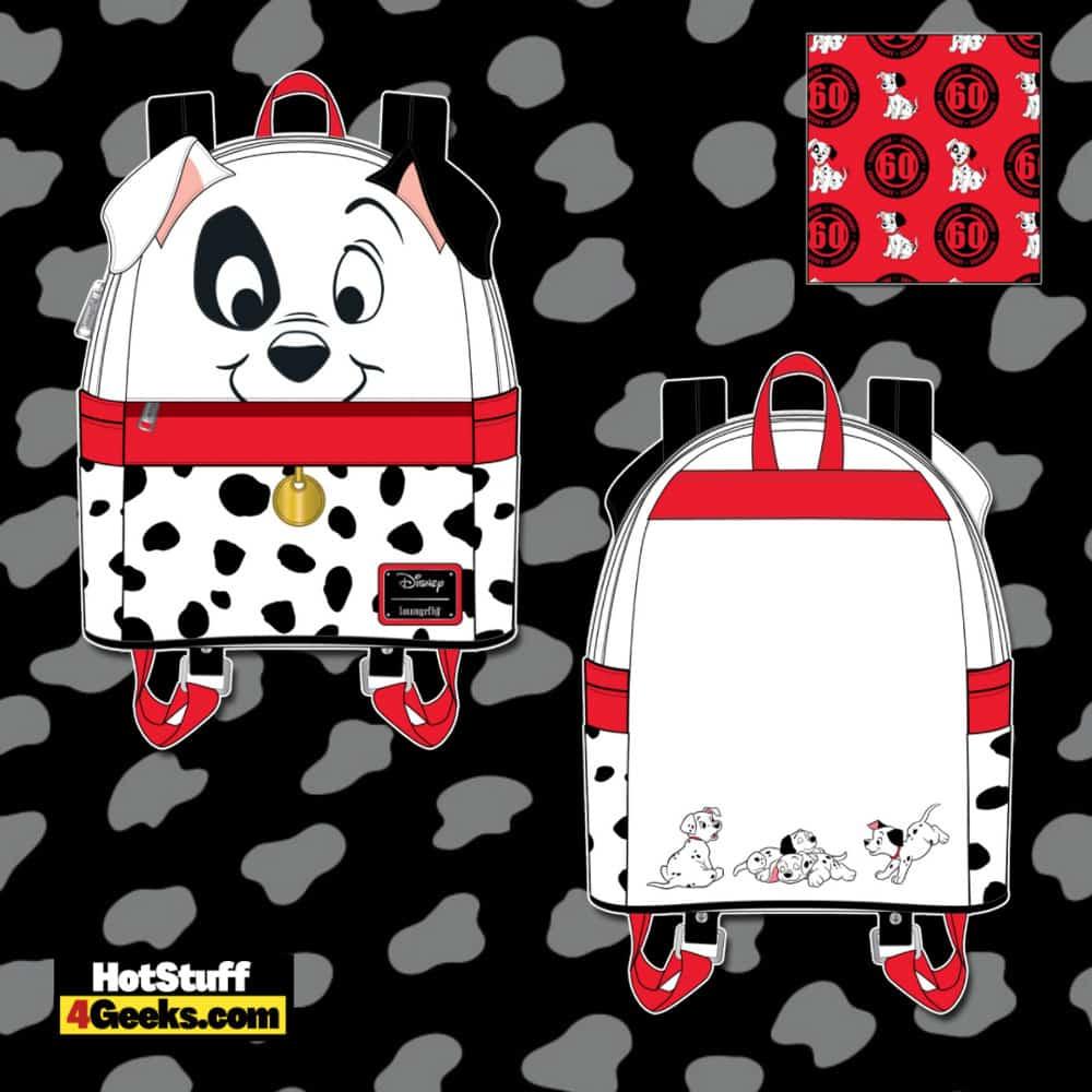Loungefly Disney 101 Dalmatians 60th Anniversary Cosplay Mini Backpack