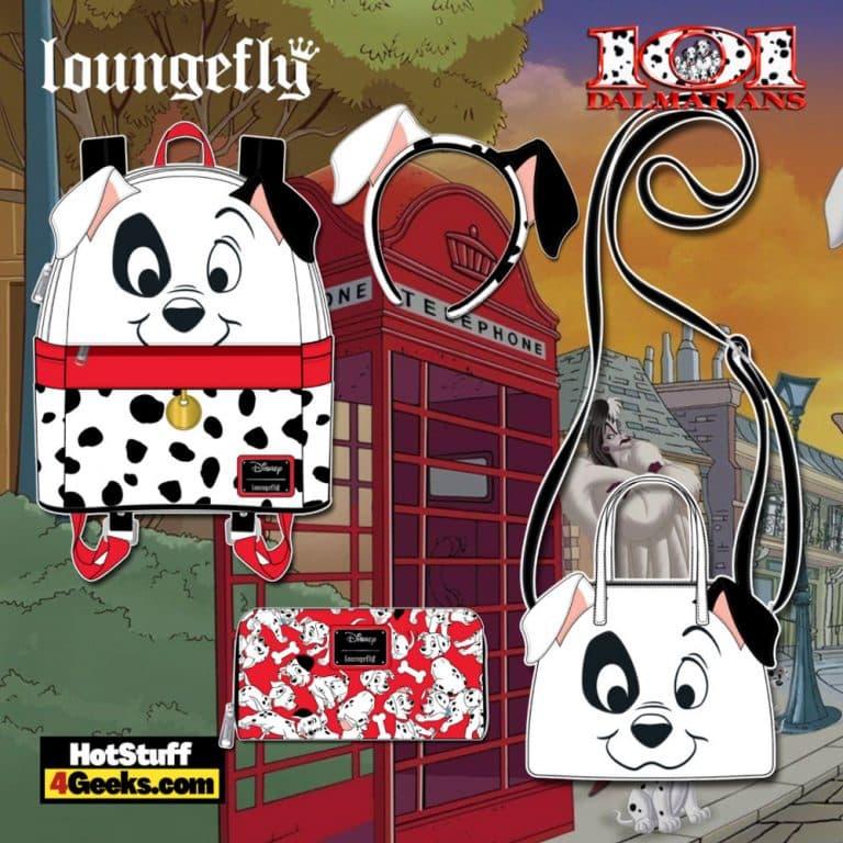 Loungefly Disney 101 Dalmatians 60th Anniversary October 2021 Pre-Orders (Mini Backpack, Crossbody Bag, Wallet, and Ear Headband)