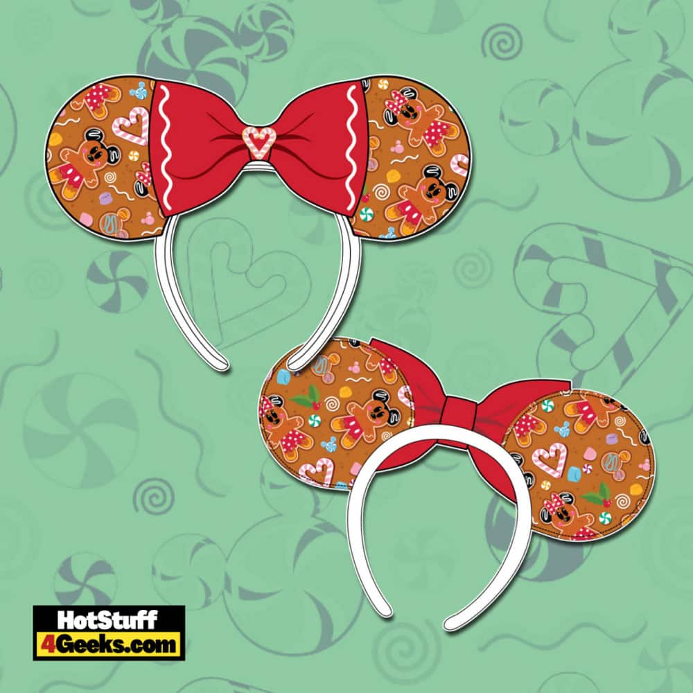 Loungefly Disney Christmas Gingerbread Mickey and Minnie Mouse Ears Headband