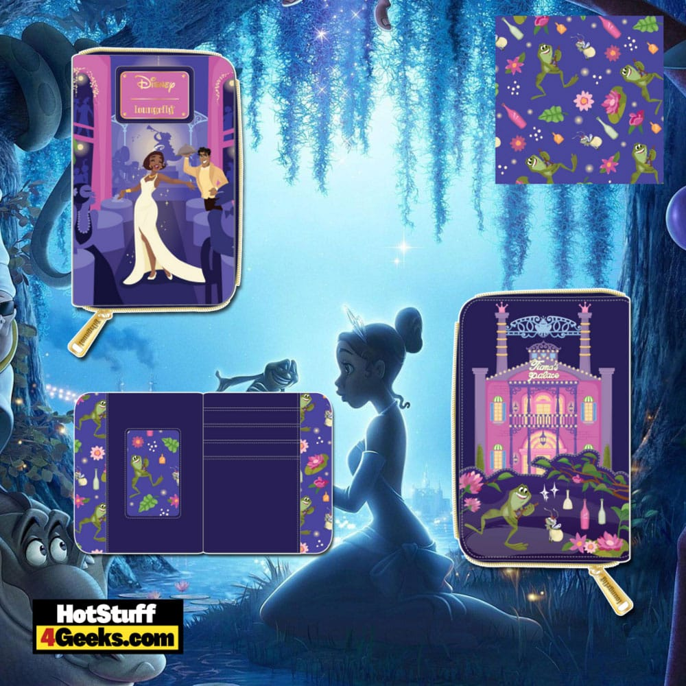 Loungefly Disney Princess And The Frog Tiana's Palace Zip Around Wallet