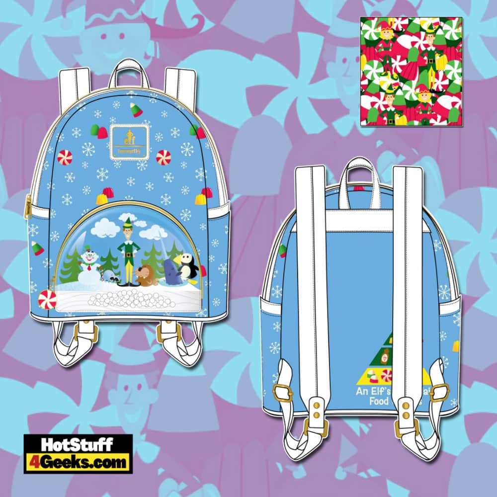 Loungefly Elf Buddy and Friends Mini Backpack