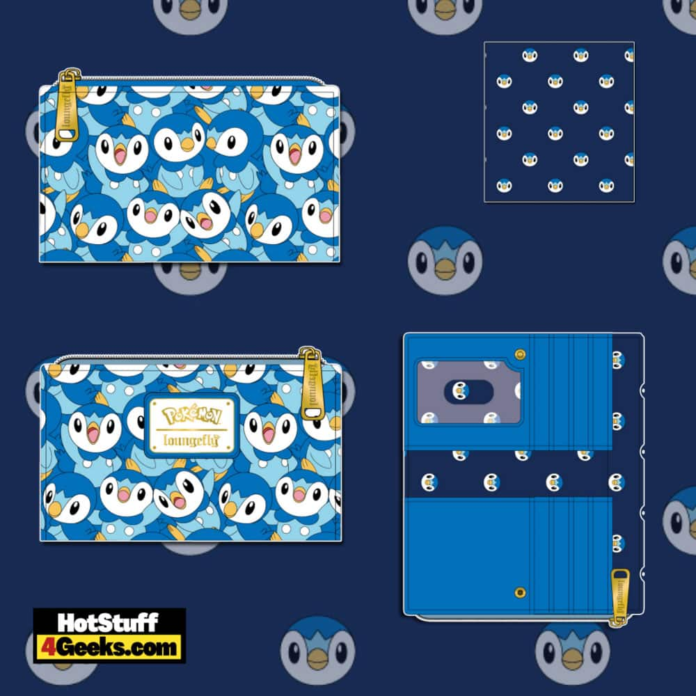 Loungefly Pokemon Piplup Cosplay Flap Wallet