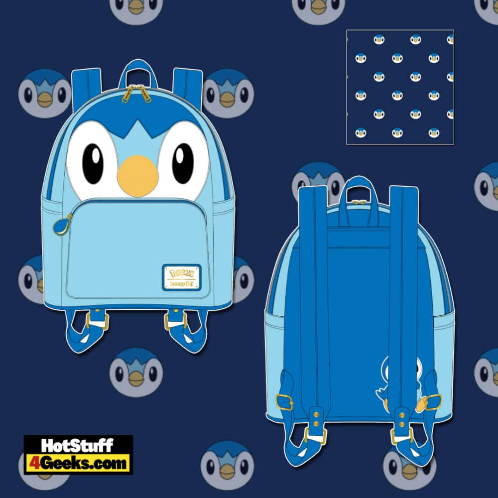 Loungefly Pokemon Piplup Cosplay Mini Backpack