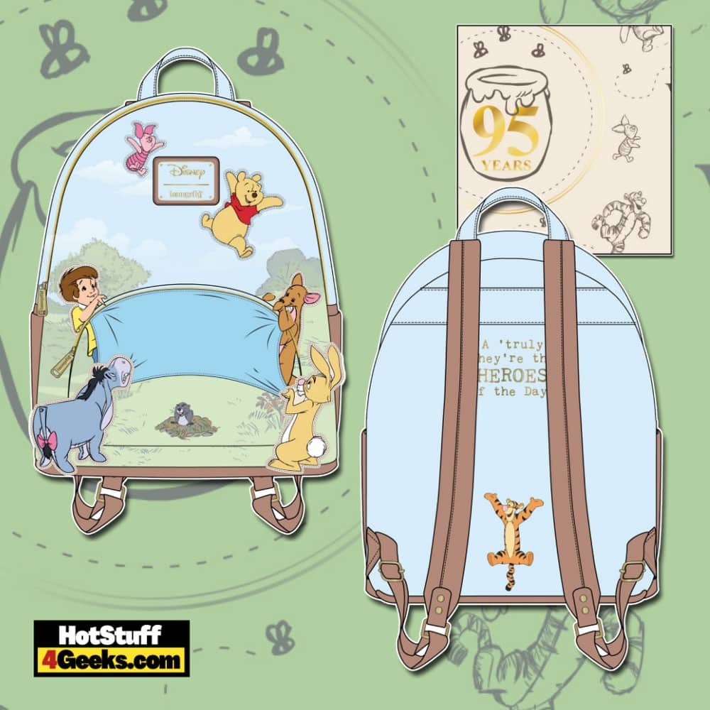 Loungefly Winnie the Pooh 95th Anniversary Celebrations Toss Mini Backpack