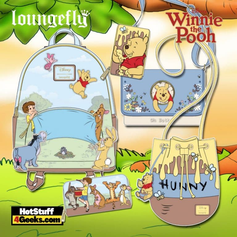 Loungefly Winnie the Pooh 95th Anniversary October 2021 Pre-Orders (Mini Backpack. Crossbody, Wallet, and Accordion)