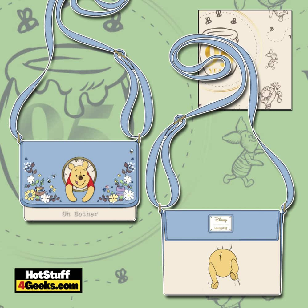 Loungefly Winnie the Pooh 95th Anniversary Peek-a-Pooh Crossbody Bag