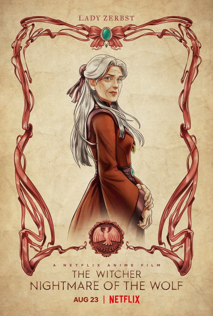 The Witcher Nightmare of the Wolf Lady Zerbest Poster