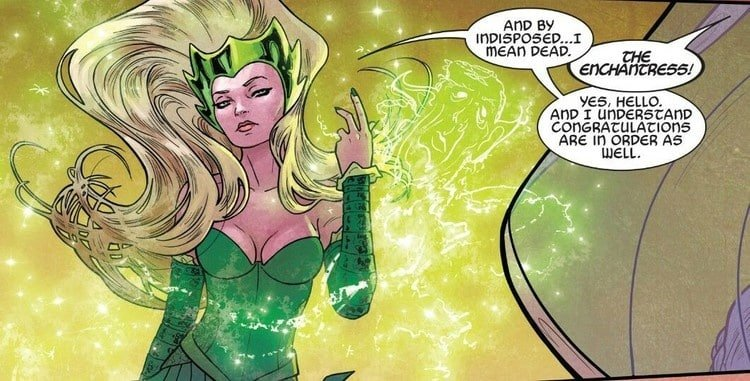 Amora at one of her most recent comic book appearances
