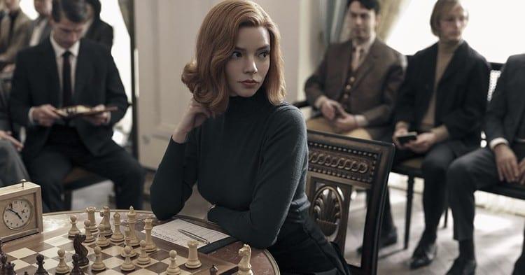 Anya Taylor-Joy as Beth Harmon in the series.