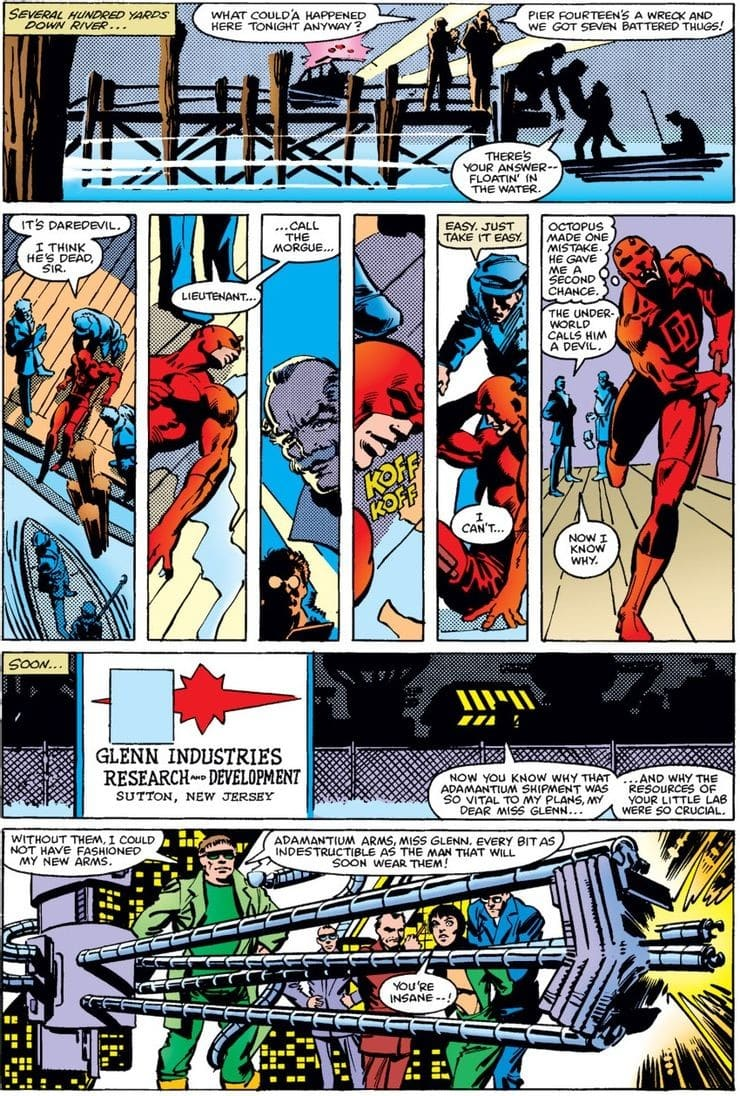 Doctor Octopus acquires adamantium arms.