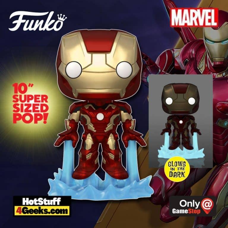 Funko POP! Marvel: Iron Man Glow in the Dark 10-Inch Jumbo Size Funko Pop! Vinyl Figure - GameStop Exclusive