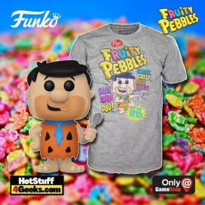 Funko POP! Ad Icons: Fruity Pebbles Fred Flinstone with Spoon Funko Pop! and Tee Vinyl Figure - GameStop Exclusive
