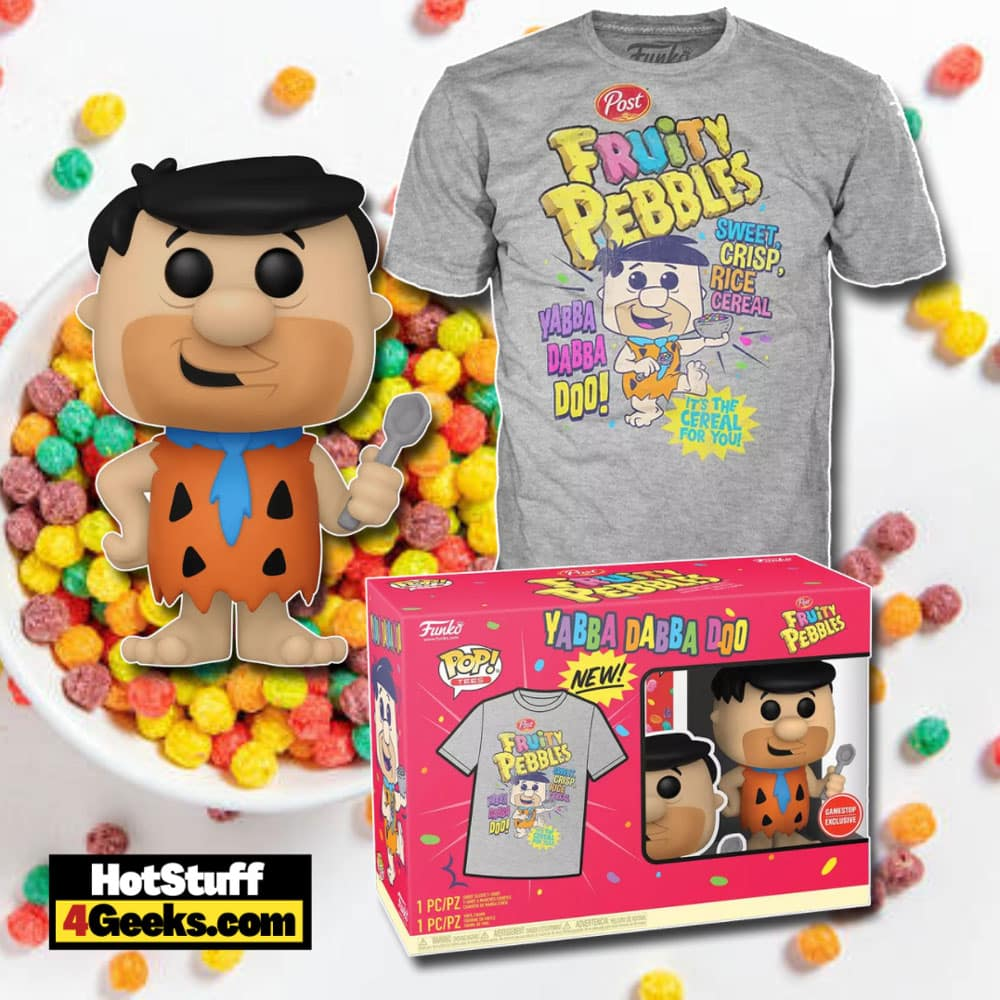 Funko POP! Ad Icons: Fruity Pebbles Fred with Spoon Funko Pop! and Tee Vinyl Figure - GameStop Exclusive