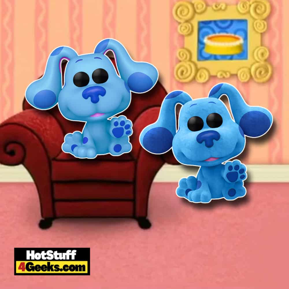 Funko Pop! Animation – Blue's Clues: Blue and Blue Flocked (Hot Topic Exclusive) Funko Pop! Vinyl Figures