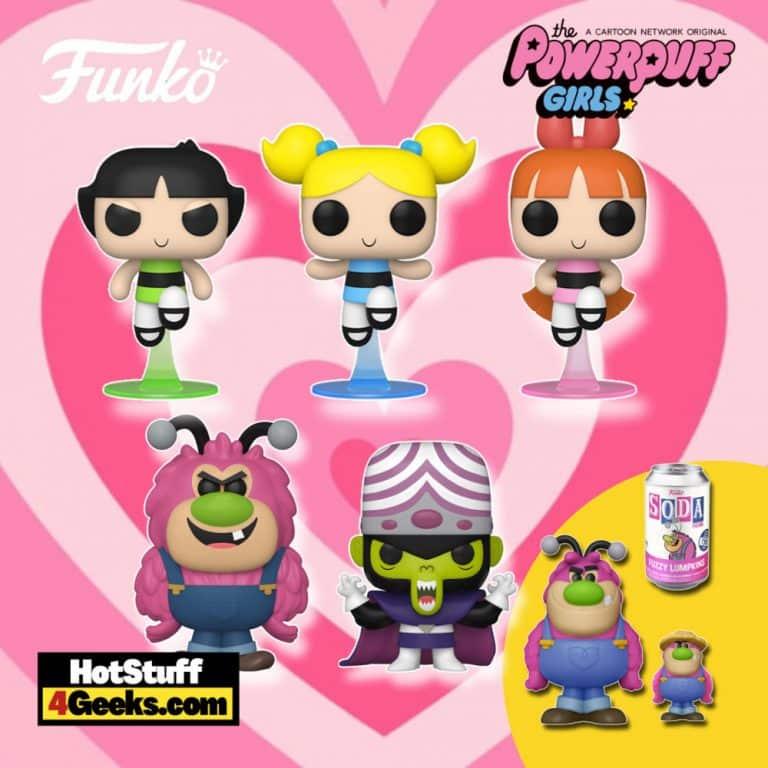 Funko Pop! Powerpuff Girls - Bubbles, Buttercup, Blossom, Mojo Jojo, and Fuzzy Lumpkins Funko Pop! Vinyl Figures and Fuzzy Lumpkins Funko Soda Vinyl Figure