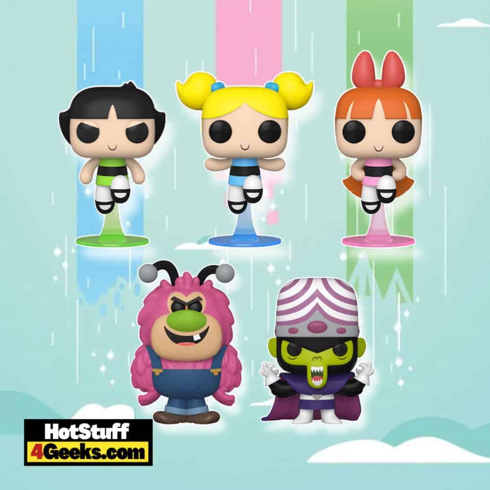 Funko Pop! Powerpuff Girls - Bubbles, Buttercup, Blossom, Mojo Jojo, and Fuzzy Lumpkins Funko Pop! Vinyl Figures