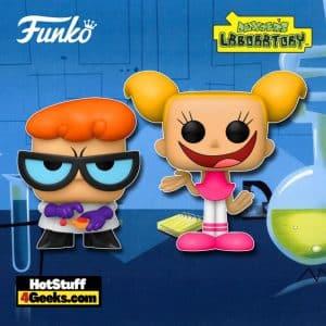 Funko Pop! Animation: Cartoon Network - Dexter's Laboratory - Dexter with Remote and Dee Dee Funko Pop! Vinyl Figures