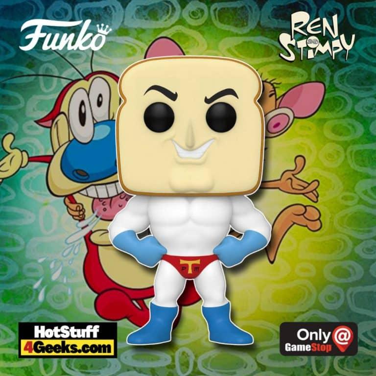 Funko Pop! Animation: Ren & Stimpy - Powdered Toast Man Funko Pop! Vinyl Figure - GameStop Exclusive